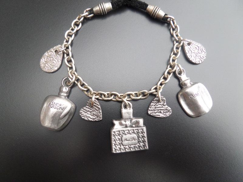 bracelet miniatures de parfum en acier premium