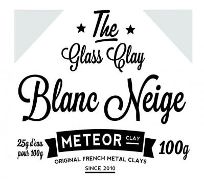 Glass clay Intense - Blanc neige - 100g