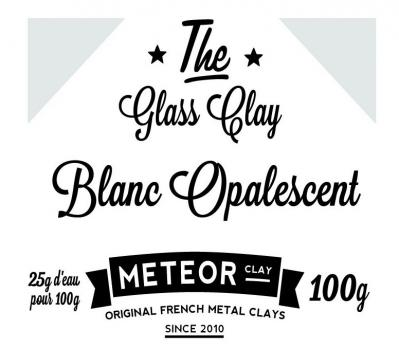 Glass clay Opalescente - Blanc - 100g
