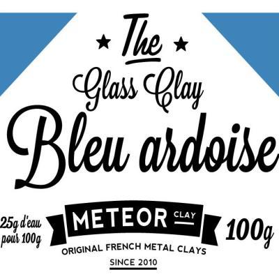 Glass clay Intense - Bleu ardoise - 100g
