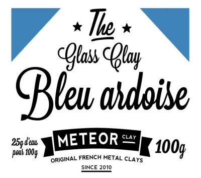 Glass clay Intense - Bleu ardoise - 100g