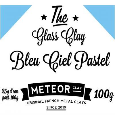 Glass clay Pastel - Bleu ciel - 100g