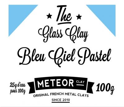 Glass clay Pastel - Bleu ciel - 100g