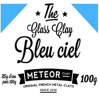 Glass clay Intense - Bleu ciel - 100g