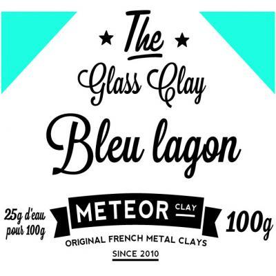 Glass clay Intense - Bleu lagon - 100g
