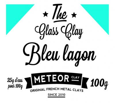Glass clay Intense - Bleu lagon - 100g