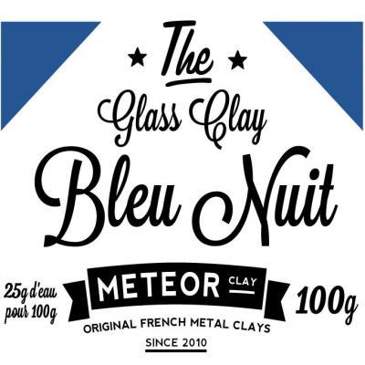 Glass clay Intense - Bleu nuit - 100g