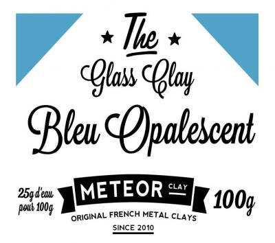 Glass clay Opalescente - Bleu - 100g