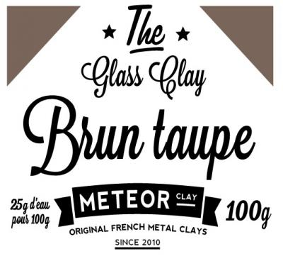 Glass clay Intense - Brun taupe  - 100g