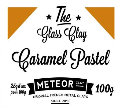 Glass clay Pastel - Caramel - 100g