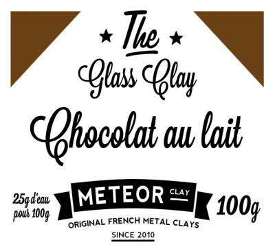 Glass Clay Intense - milk chocolate - 100g