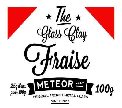 Glass clay Intense - Fraise - 100g