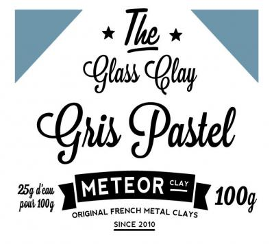 Glass clay Pastel - Grey - 100g