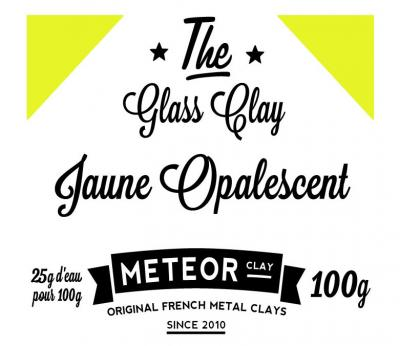 Glass clay Opalescente - Jaune - 100g