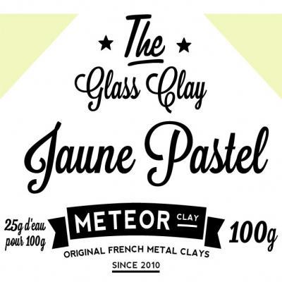 Glass clay Pastel - Jaune - 100g