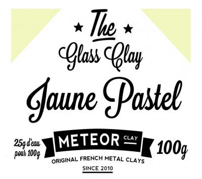Glass clay Pastel - Jaune - 100g