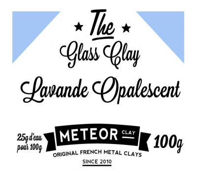 Glass clay Opalescente - Lavande - 100g