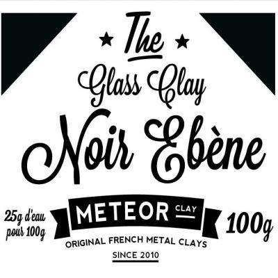 Glass clay Intense - Noir ébène- 100g