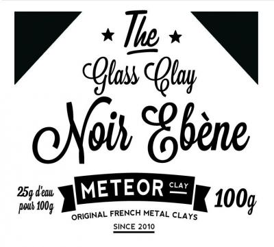 Glass clay Intense - Noir ébène- 100g