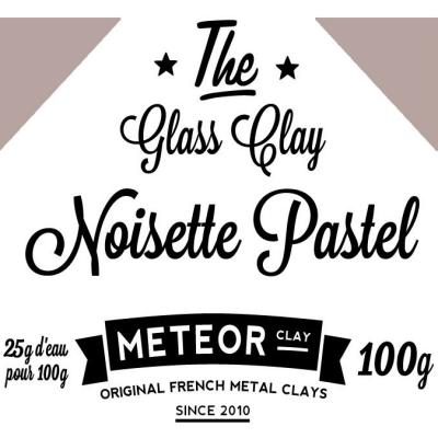 Glass clay Pastel - Noisette - 100g