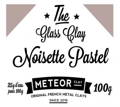 Glass clay Pastel - Hazelnut - 100g
