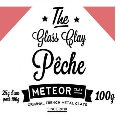 Glass clay Intense - Pêche - 100g