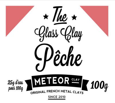 Glass clay Intense - Pêche - 100g