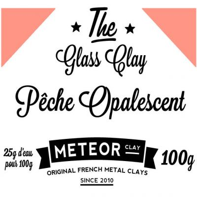 Glass clay Opalescent - Peach - 100g