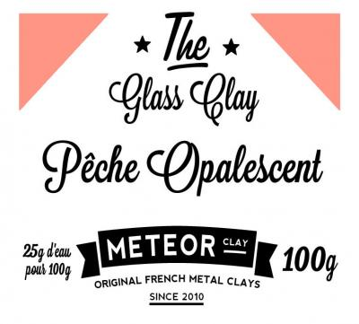 Glass clay Opalescent - Peach - 100g