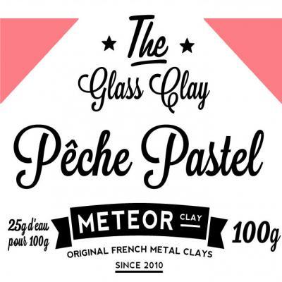 Glass clay Pastel - Pêche - 100g