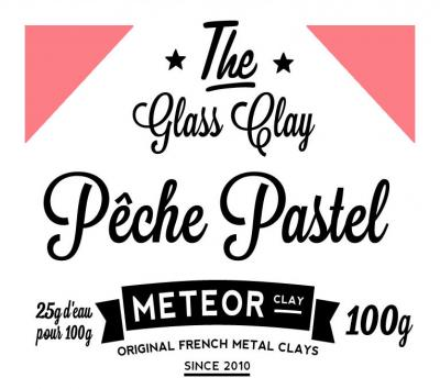 Glass clay Pastel - Pêche - 100g