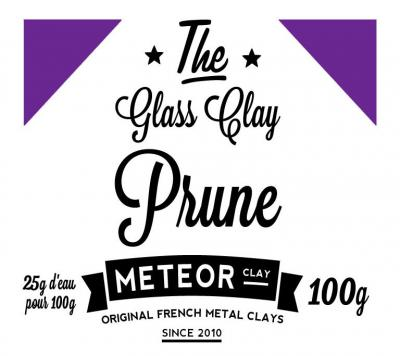 Glass clay Intense - Prune - 100g