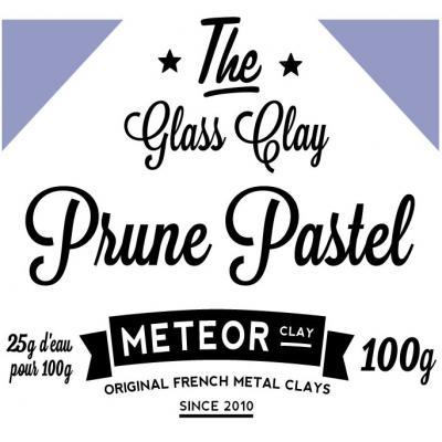 Glass clay Pastel - Prune - 100g
