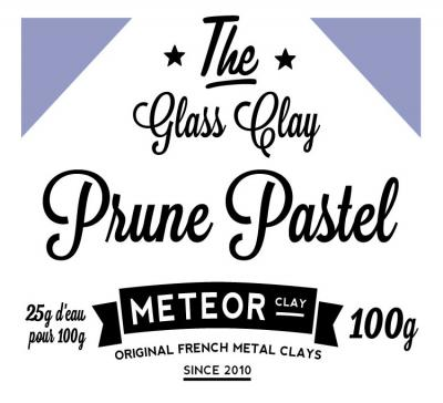 Glass clay Pastel - Plum - 100g