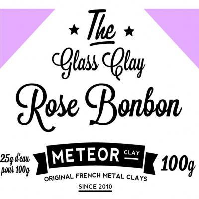Glass clay Intense - Rose bonbon - 100g
