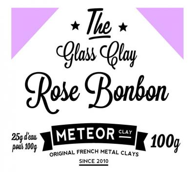 Glass clay Intense - Rose bonbon - 100g