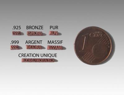 Poinçons Bronze et Argent
