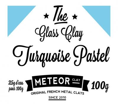 Glass clay Pastel - Turquoise - 100g