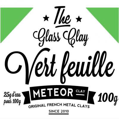 Glass clay Intense - Vert feuille - 100g