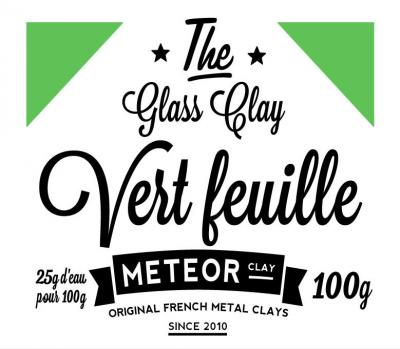 Glass clay Intense - Vert feuille - 100g
