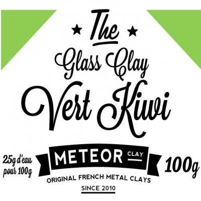Glass clay Intense - Vert kiwi - 100g