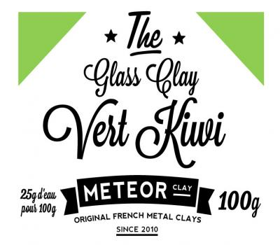 Glass clay Intense - Vert kiwi - 100g