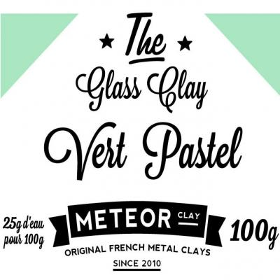 Glass clay Pastel - Vert - 100g