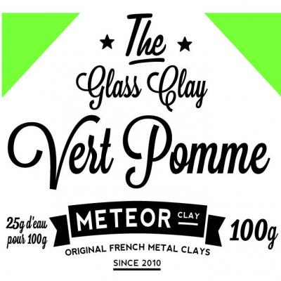 Glass clay Intense - Vert pomme- 100g