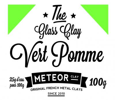Glass clay Intense - Vert pomme- 100g