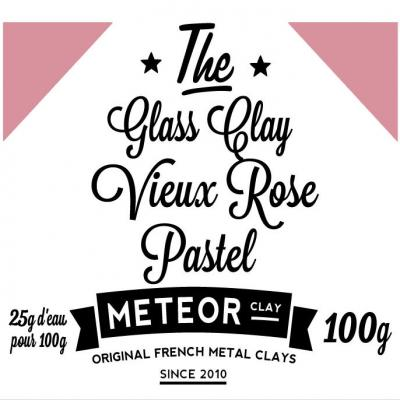 Glass clay Pastel - Vieux rose - 100g
